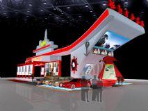 西博会展厅,汽车展台,室外场景max模型