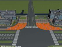 城市建筑max模型
