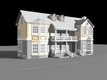 小别墅,中式建筑,房子,小区,住宅max模型