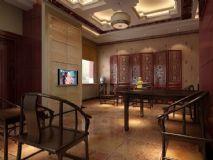 中式客厅,室内场景max模型