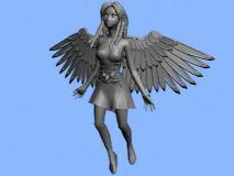 天使,女性,游戏角色max模型