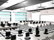 教室,室内场景maya模型
