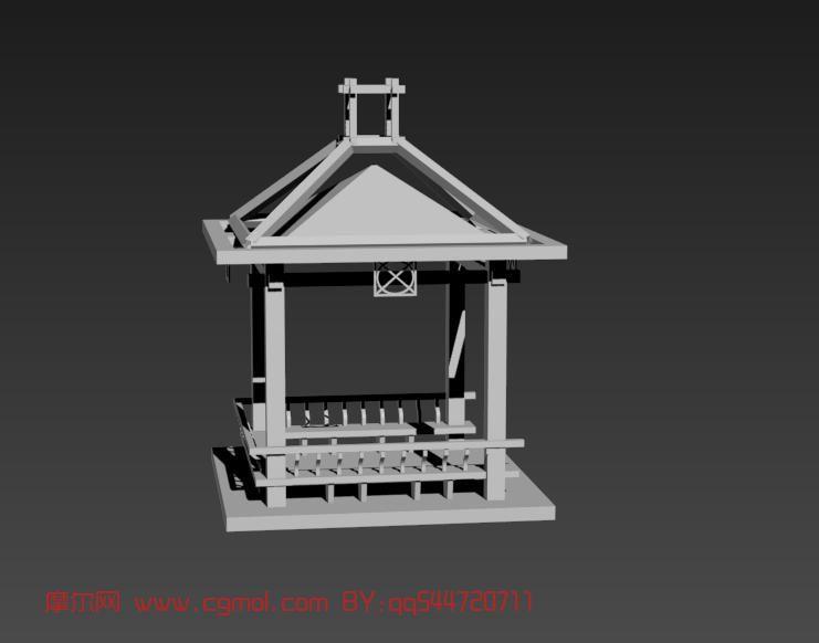 亭子,建筑,室外场景max模型