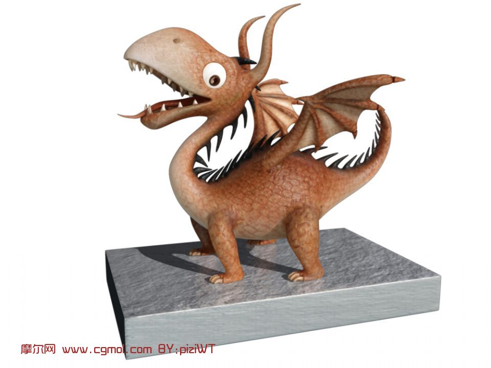 卡通恐龙maya模型