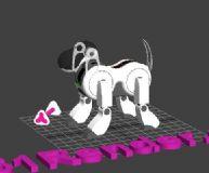 机器小狗,机械角色max模型