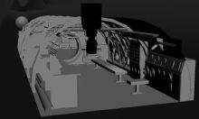 潜水艇内部场景max模型