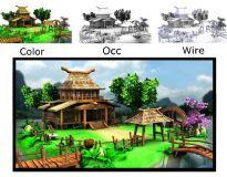 Q版场景,房子,建筑,室外场景max模型