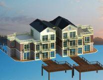 别墅,建筑,房子,住宅,室外场景max模型