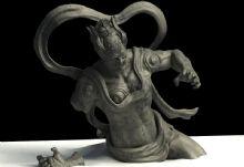 断臂,人物雕像max模型