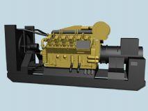 柴油发电机组,机械max模型