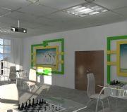 烟草,象棋娱乐室3D模型