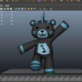 熊,卡通动物maya模型