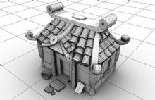 可爱小房子,屋子,建筑,室外场景maya模型