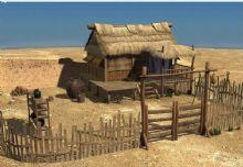 茅草屋,屋子,房子,建筑,室外�鼍�maya模型