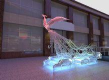 凤凰,冰灯效果,室外场景max模型