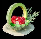 草莓水果篮,室内装饰max模型