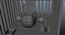 机器,船,卡通场景maya模型