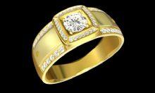 男士钻石戒指3D模型