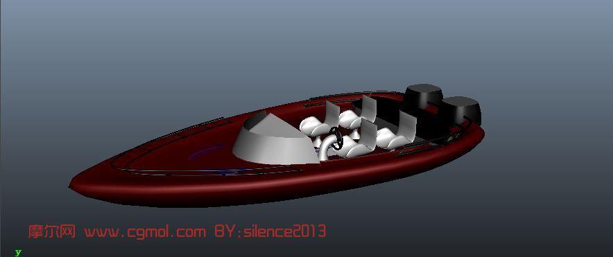 豪华游艇,快艇,船maya模型