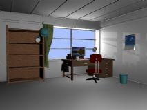 书房,室内场景maya模型