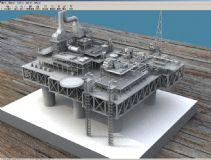 海上油田设备,油井max模型