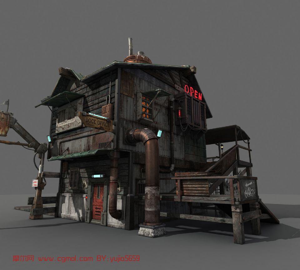 游戏场景图片素材房子