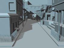 街道,建筑,室外场景maya模型