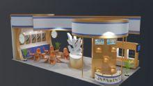 展台设计,室外场景max模型