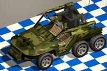 火箭车,吉普车,军事战车max模型