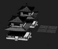 古建筑,宫殿,房子,大楼,建筑,室外场景max模型