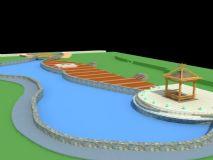 水景造型,建筑,室外场景max模型
