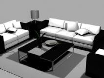 客厅设计,沙发,室内家具max模型