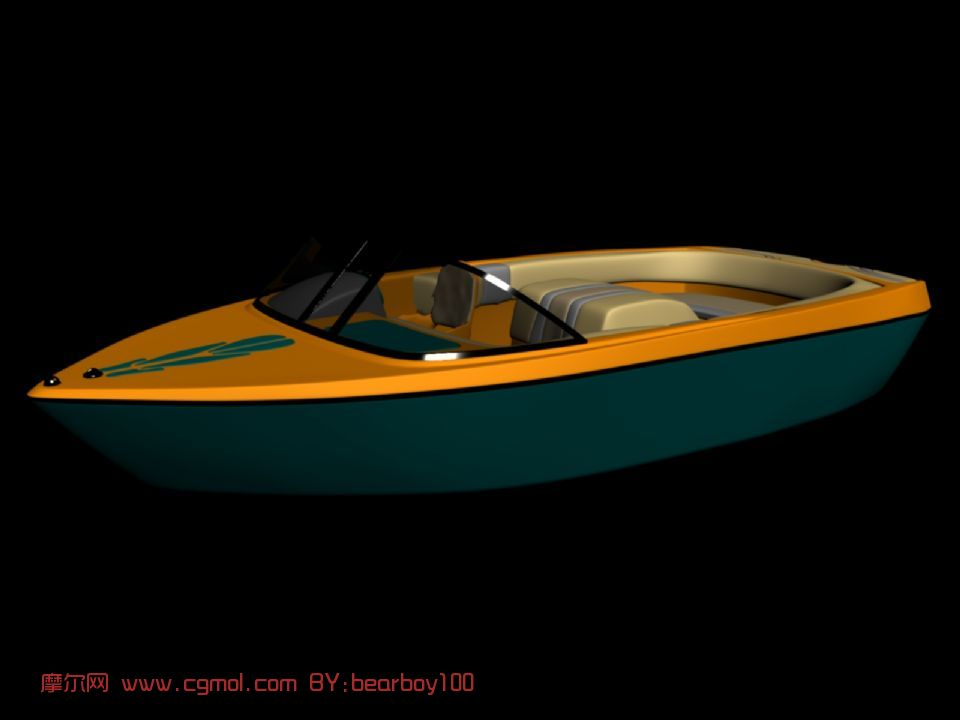 游艇,船max模型