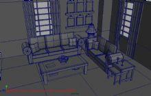 客厅,室内卡通场景maya模型