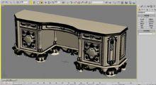 欧式家具,柜子,室内家具max模型