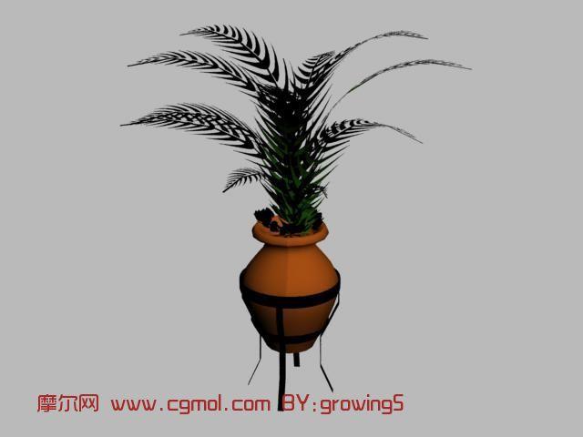花瓶,植物,盆景max模型