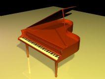 钢琴,乐器max模型
