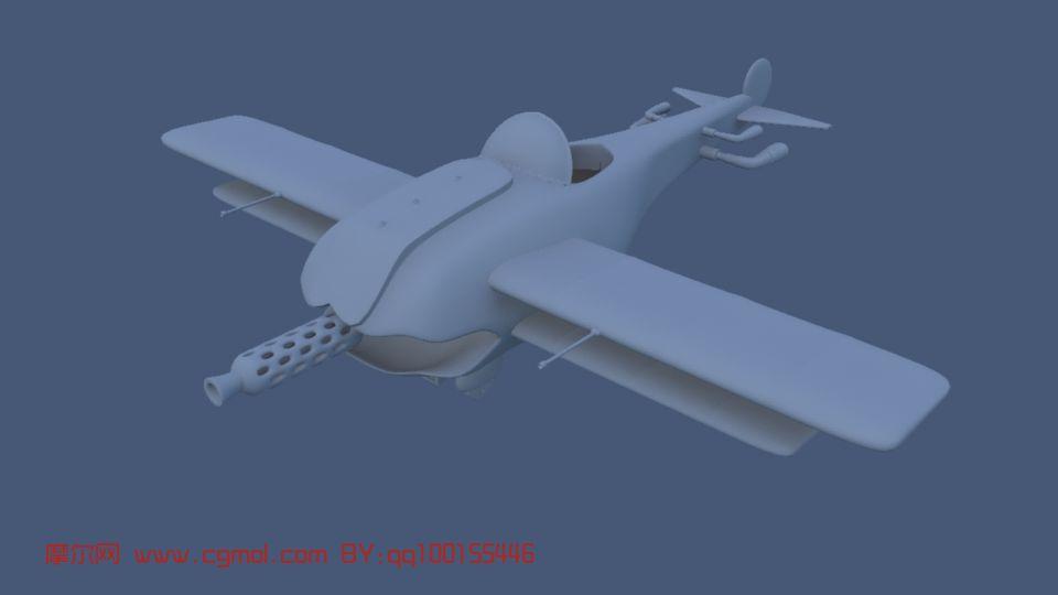 玩具飞机maya模型 飞行器 军事模型高清图片