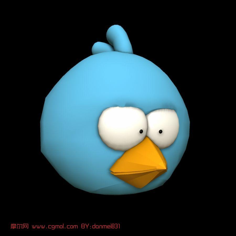 愤怒的小鸟,卡通角色maya模型