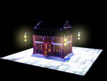 房子,古建筑,室外场景max模型
