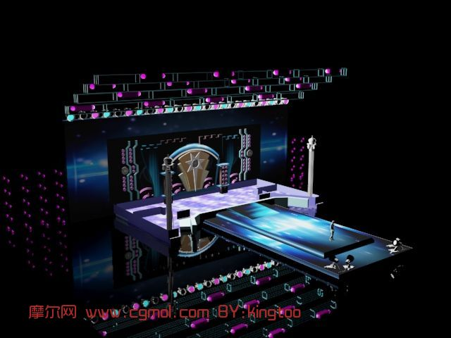 魔幻舞台,建筑,室外场景max模型