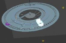 钟表场景,卡通场景max模型