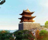 南宫门,古代建筑,城墙max模型
