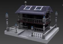 原创双层房子,房屋3D模型
