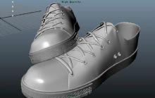 帆布鞋,鞋子maya模型