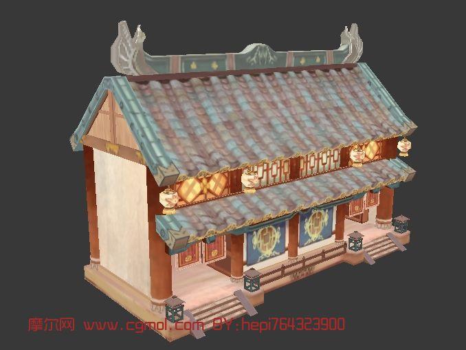 q版场景,房子,建筑,室外场景max模型图片