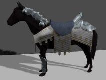 战马,动物maya模型