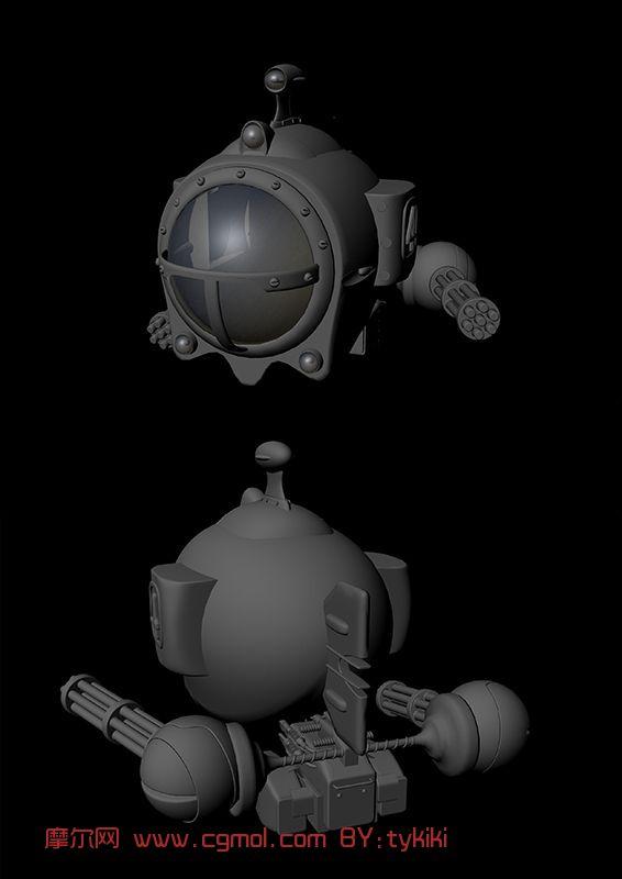 飞船,潜艇,船,机械maya模型