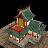 古代宫殿,古代建筑,室外场景max模型