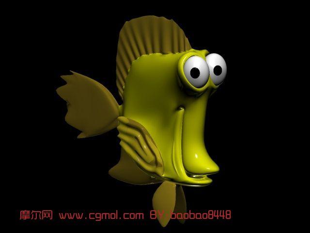 鱼,卡通动物max模型